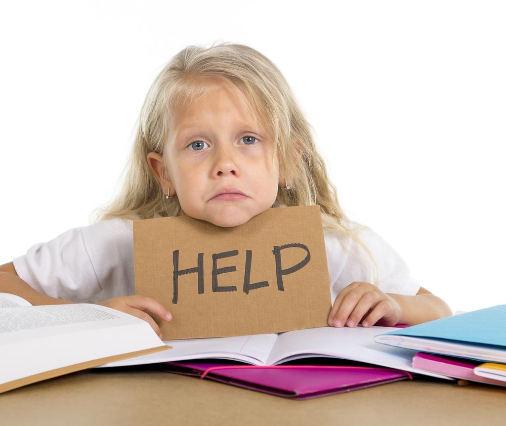 ребенок просит помощи
