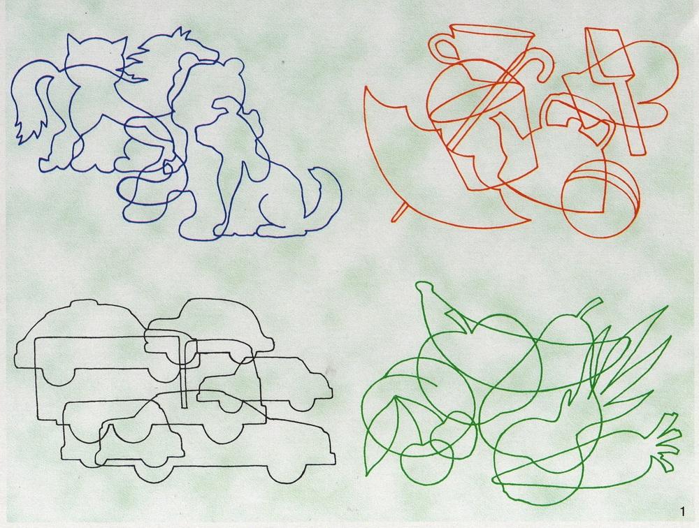 игра на развитие воображение с зашумленными контурами