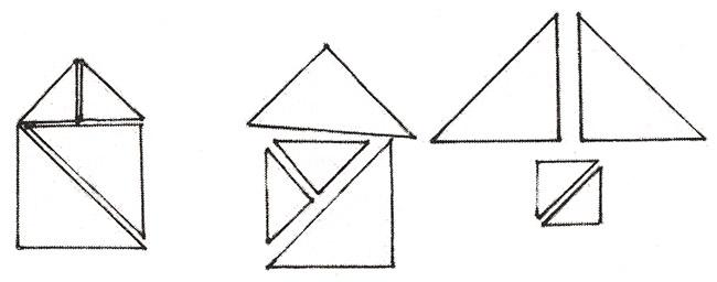 домики из треугольников