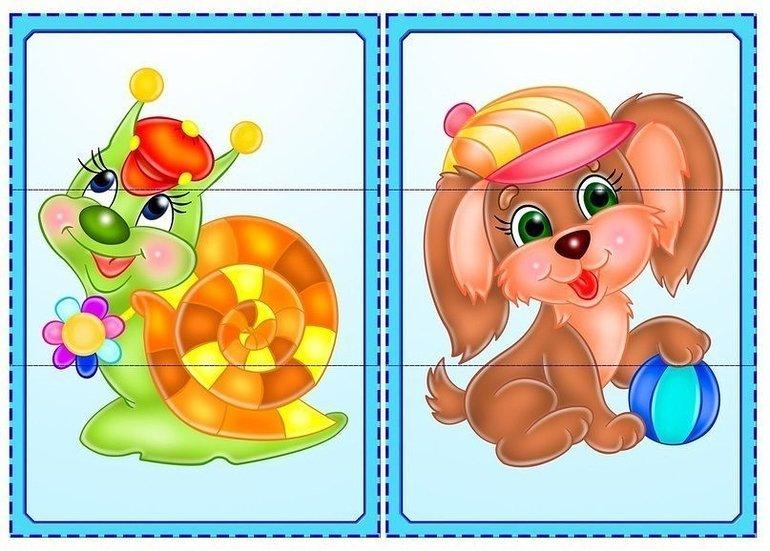 разрезные картинки для детей