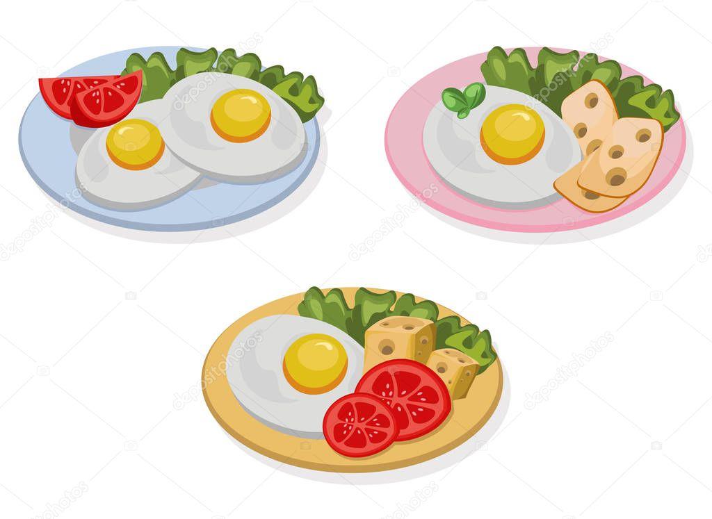 три блюда с яйцом