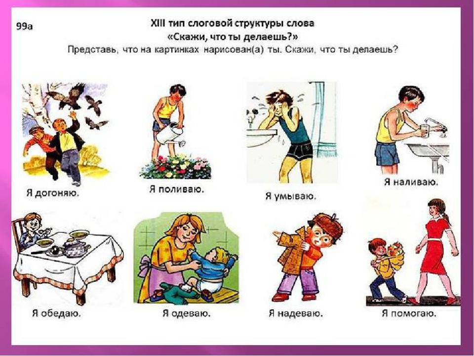 глаголы с местоимением я