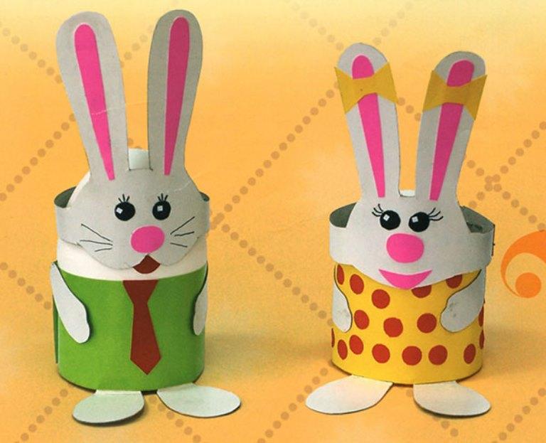 аппликация из бумаги кролик