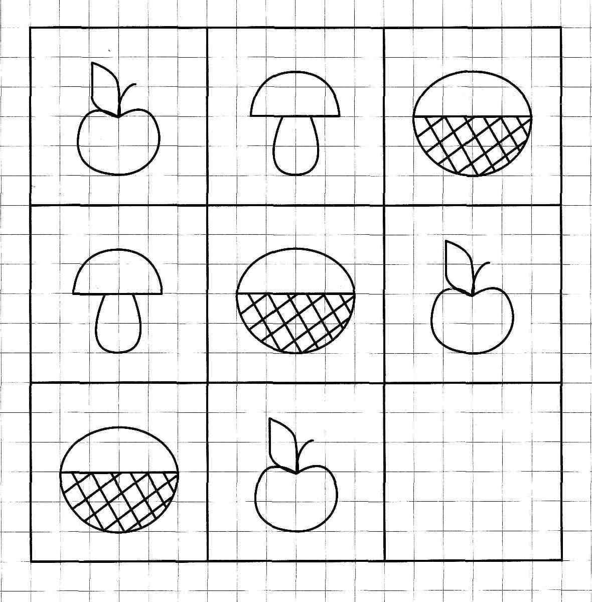 Логические рисунки для детей